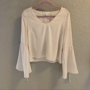 BP silky cream blouse
